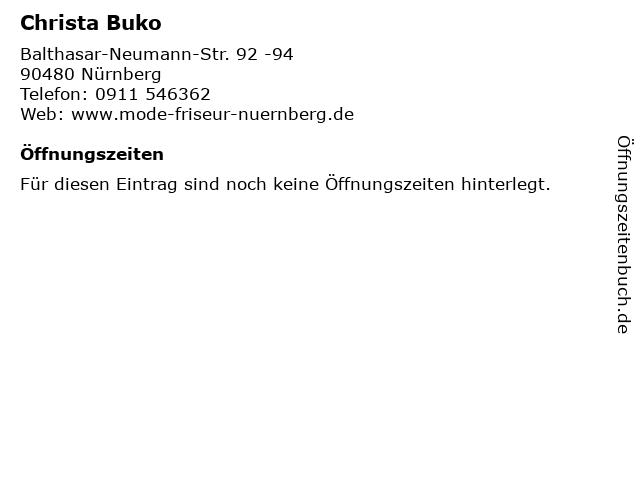 Christa Buko in Nürnberg: Adresse und Öffnungszeiten