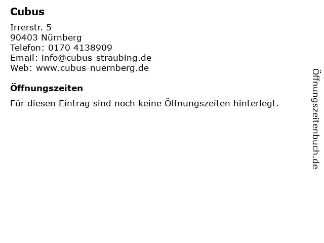 Cubus in Nürnberg: Adresse und Öffnungszeiten