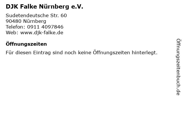 DJK Falke Nürnberg e.V. in Nürnberg: Adresse und Öffnungszeiten