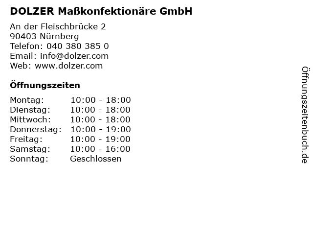 DOLZER Maßkonfektionäre GmbH in Nürnberg: Adresse und Öffnungszeiten