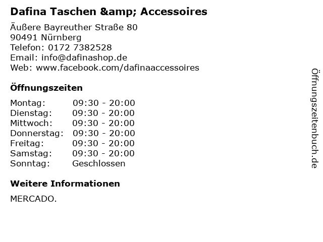 Dafina Taschen & Accessoires in Nürnberg: Adresse und Öffnungszeiten