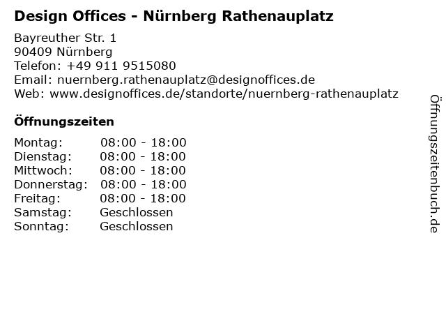 Design Offices - Nürnberg Rathenauplatz in Nürnberg: Adresse und Öffnungszeiten