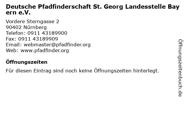 Deutsche Pfadfinderschaft St. Georg Landesstelle Bayern e.V. in Nürnberg: Adresse und Öffnungszeiten
