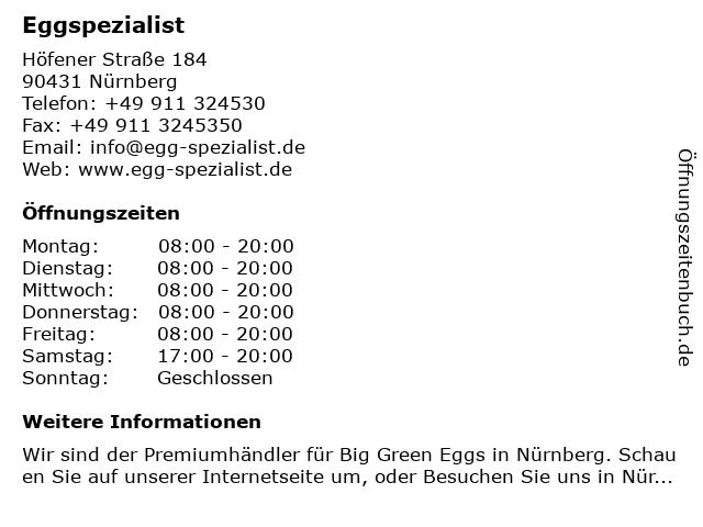 Eggspezialist in Nürnberg: Adresse und Öffnungszeiten