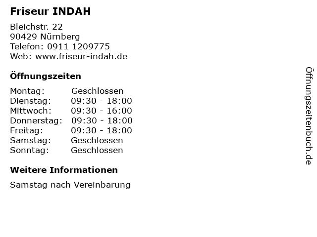 ᐅ öffnungszeiten Friseur Indah Bleichstr 22 In Nürnberg
