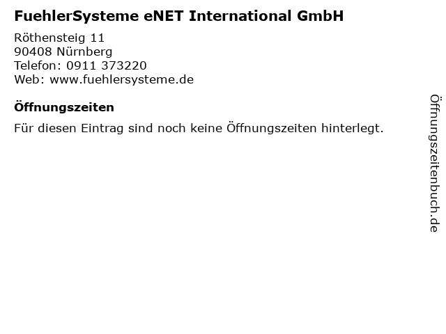 FuehlerSysteme eNET International GmbH in Nürnberg: Adresse und Öffnungszeiten