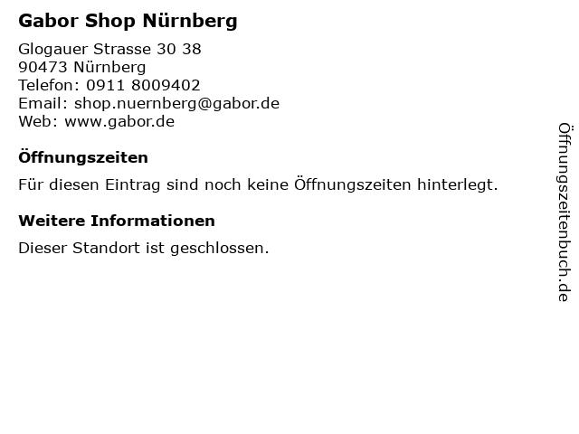 Gabor Shop in Nürnberg: Adresse und Öffnungszeiten