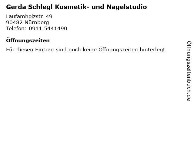 Gerda Schlegl Kosmetik- und Nagelstudio in Nürnberg: Adresse und Öffnungszeiten