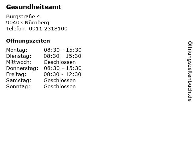 Gesundheitsamt in Nürnberg: Adresse und Öffnungszeiten