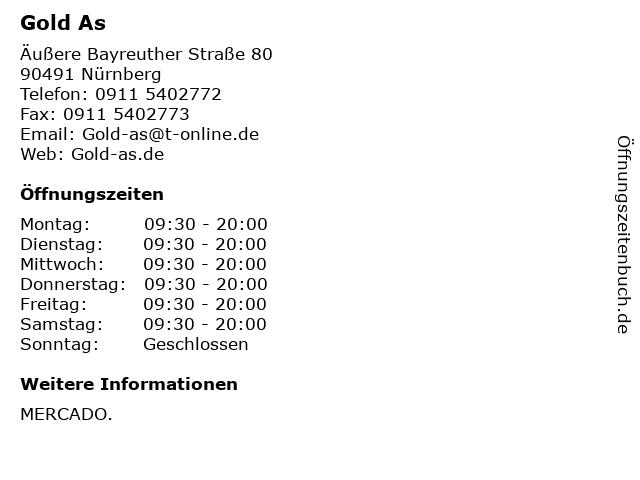 Gold As in Nürnberg: Adresse und Öffnungszeiten