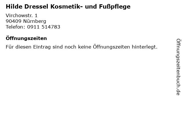 Hilde Dressel Kosmetik- und Fußpflege in Nürnberg: Adresse und Öffnungszeiten