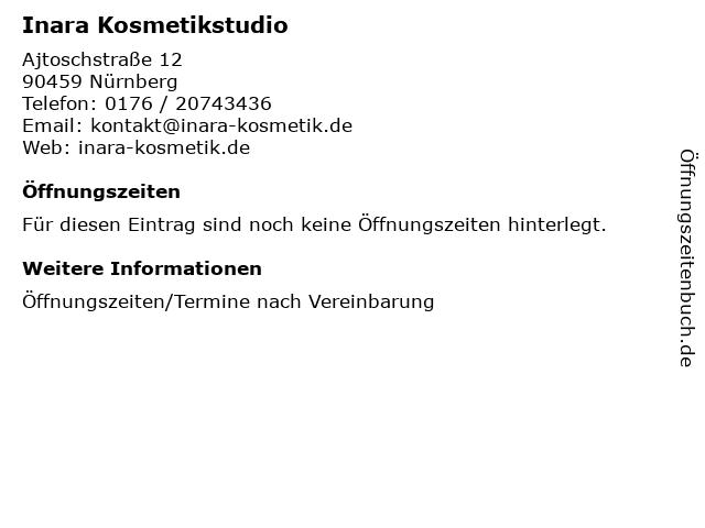 Inara Kosmetikstudio in Nürnberg: Adresse und Öffnungszeiten