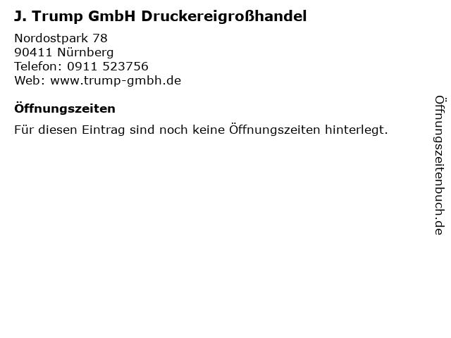 J. Trump GmbH Druckereigroßhandel in Nürnberg: Adresse und Öffnungszeiten