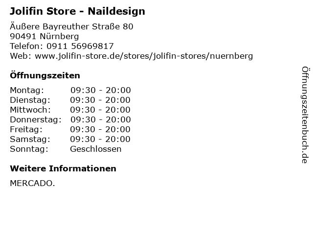 Jolifin Store in Nürnberg: Adresse und Öffnungszeiten