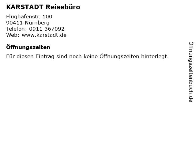 KARSTADT Reisebüro in Nürnberg: Adresse und Öffnungszeiten