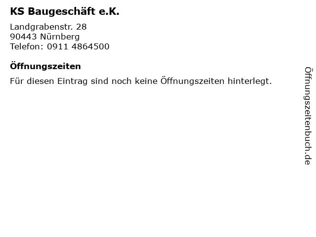 KS Baugeschäft e.K. in Nürnberg: Adresse und Öffnungszeiten