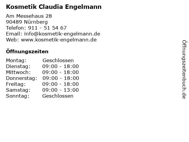 Kosmetik Claudia Engelmann in Nürnberg: Adresse und Öffnungszeiten