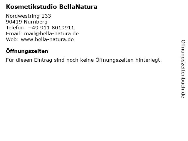 Kosmetikstudio BellaNatura in Nürnberg: Adresse und Öffnungszeiten