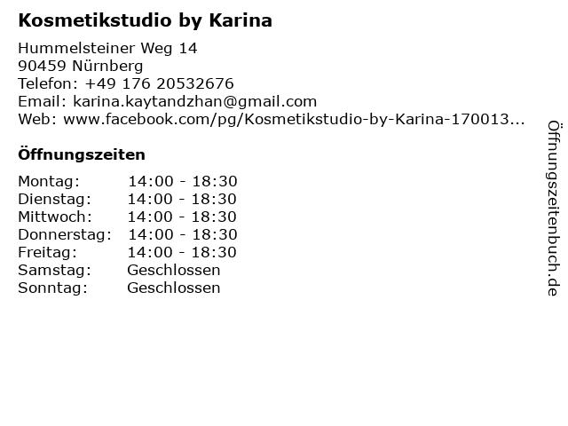 Kosmetikstudio by Karina in Nürnberg: Adresse und Öffnungszeiten