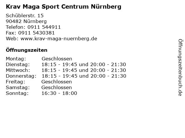 Krav Maga Sport Centrum Nürnberg in Nürnberg: Adresse und Öffnungszeiten