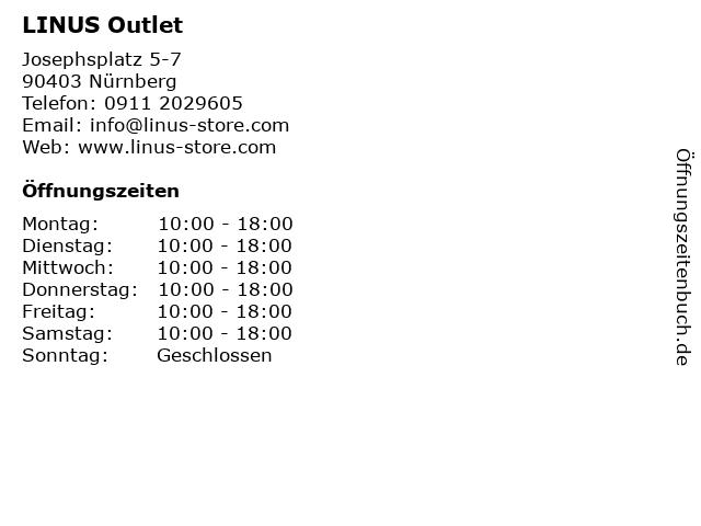 LINUS Outlet in Nürnberg: Adresse und Öffnungszeiten