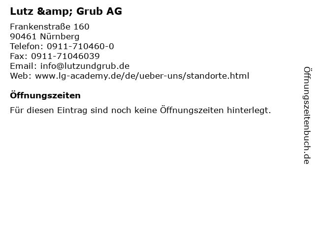 Lutz & Grub AG in Nürnberg: Adresse und Öffnungszeiten