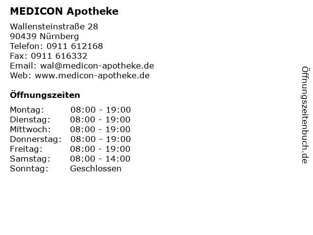 MEDICON Apotheke in Nürnberg: Adresse und Öffnungszeiten