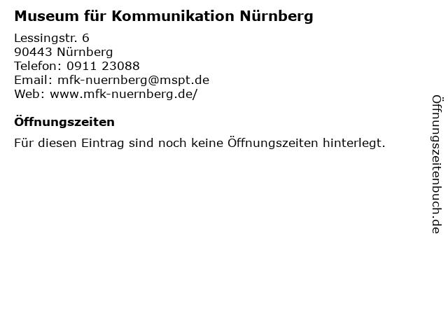 Museum für Kommunikation Nürnberg in Nürnberg: Adresse und Öffnungszeiten