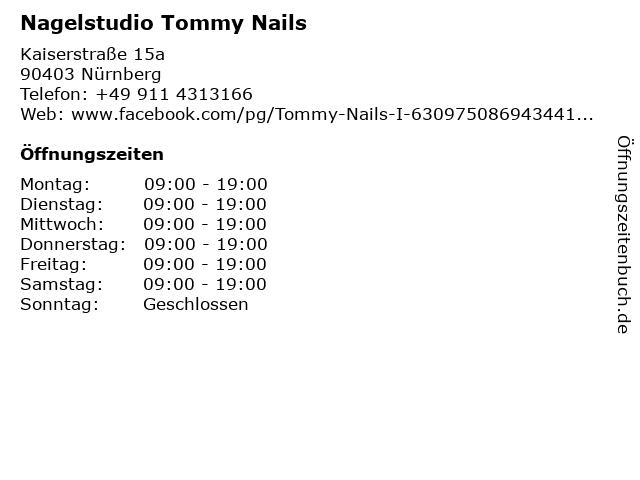 Nagelstudio Tommy Nails in Nürnberg: Adresse und Öffnungszeiten