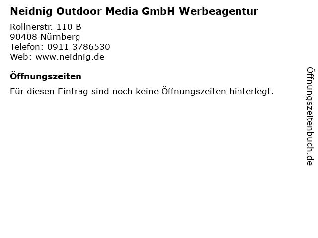 Neidnig Outdoor Media GmbH Werbeagentur in Nürnberg: Adresse und Öffnungszeiten