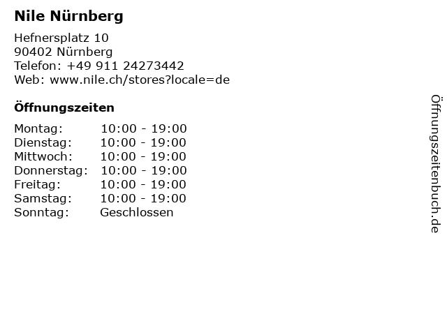 Nile Nürnberg in Nürnberg: Adresse und Öffnungszeiten