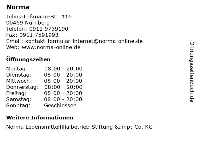 Norma in Nürnberg: Adresse und Öffnungszeiten