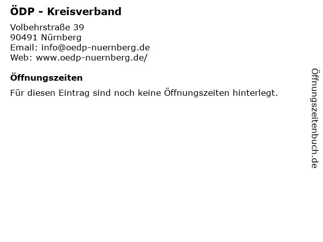 ÖDP - Kreisverband in Nürnberg: Adresse und Öffnungszeiten
