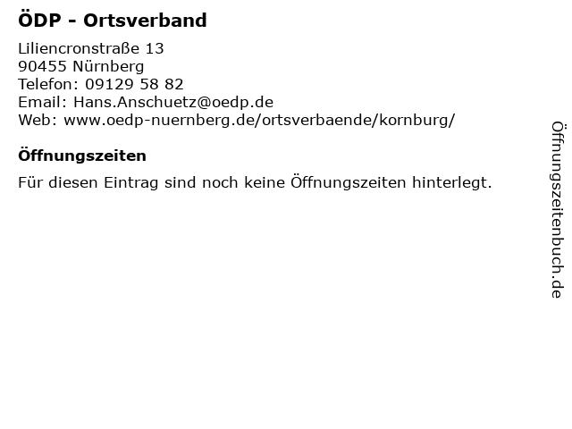 ÖDP - Ortsverband in Nürnberg: Adresse und Öffnungszeiten