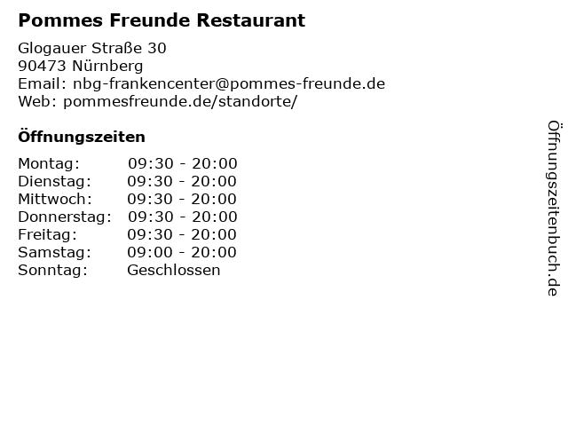 Pommes Freunde in Nürnberg: Adresse und Öffnungszeiten