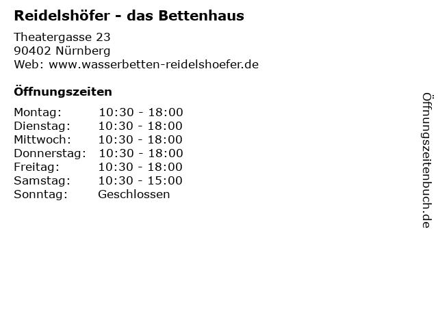 Reidelshöfer - das Bettenhaus in Nürnberg: Adresse und Öffnungszeiten