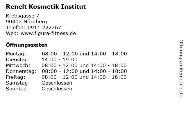 Renelt Kosmetik Institut in Nürnberg: Adresse und Öffnungszeiten