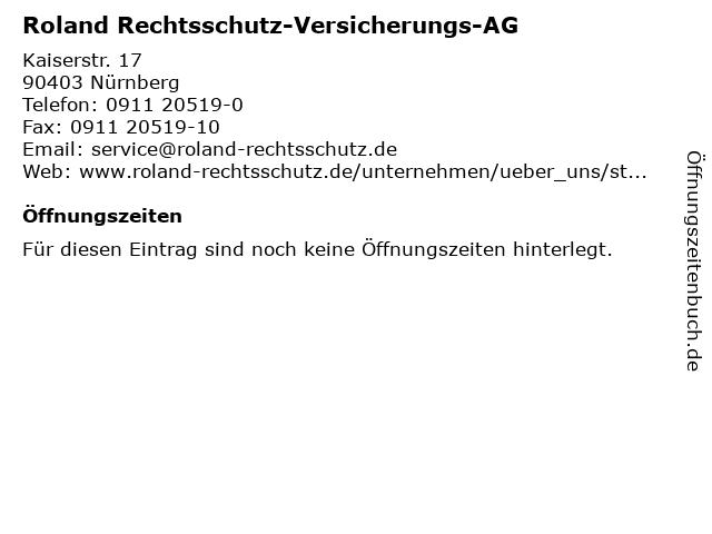 Roland Rechtsschutz-Versicherungs-AG in Nürnberg: Adresse und Öffnungszeiten