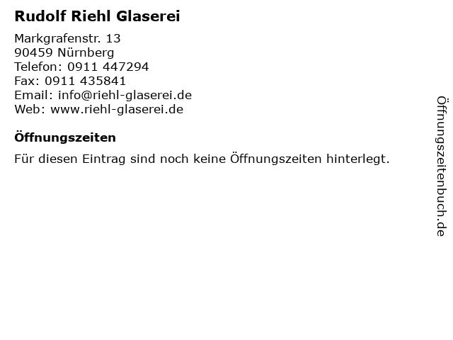 Rudolf Riehl Glaserei in Nürnberg: Adresse und Öffnungszeiten