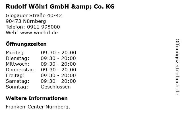 Rudolf Wöhrl GmbH & Co. KG in Nürnberg: Adresse und Öffnungszeiten