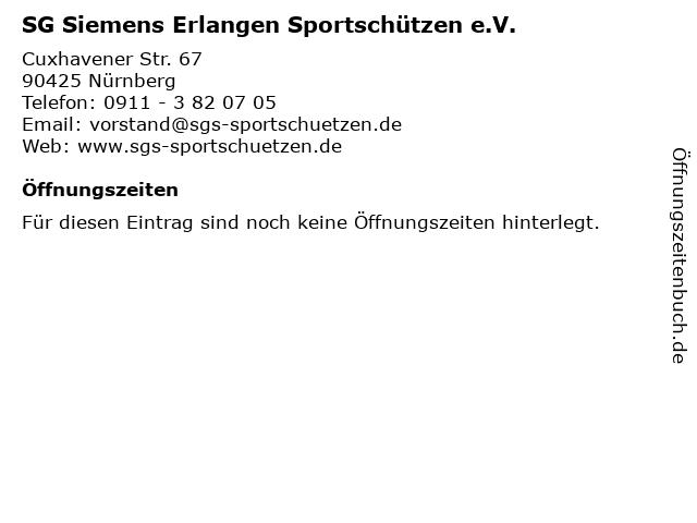 SG Siemens Erlangen Sportschützen e.V. in Nürnberg: Adresse und Öffnungszeiten