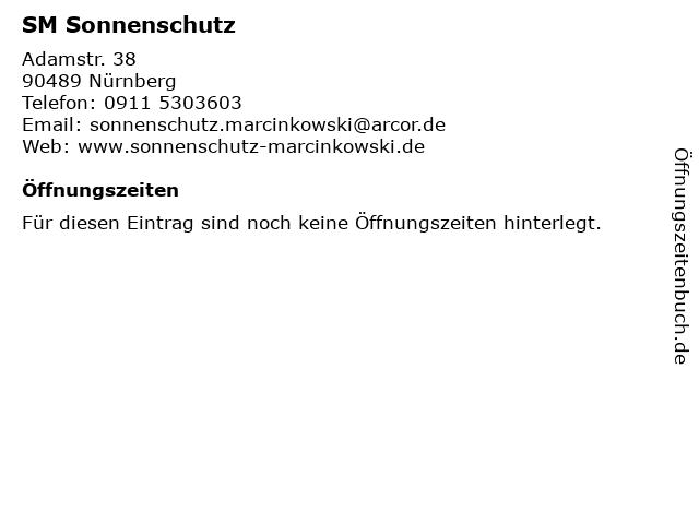SM Sonnenschutz in Nürnberg: Adresse und Öffnungszeiten