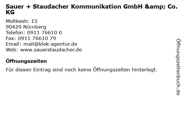 Sauer + Staudacher Kommunikation GmbH & Co. KG in Nürnberg: Adresse und Öffnungszeiten