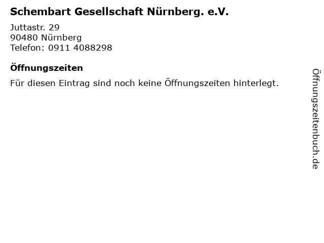 Schembart Gesellschaft Nürnberg. e.V. in Nürnberg: Adresse und Öffnungszeiten