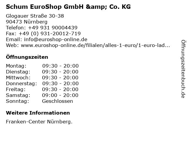 Schum EuroShop GmbH & Co. KG in Nürnberg: Adresse und Öffnungszeiten