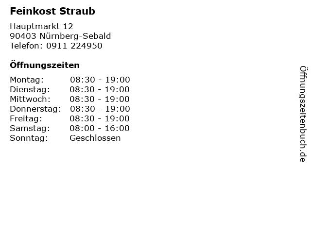 Feinkost Straub in Nürnberg-Sebald: Adresse und Öffnungszeiten