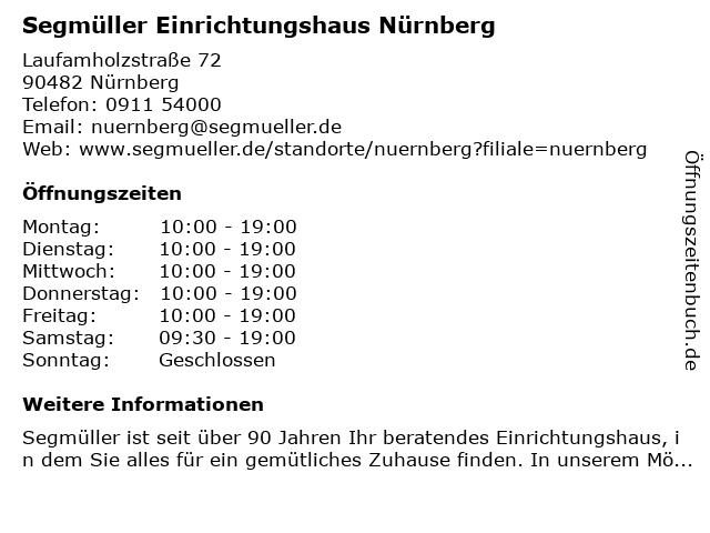 ᐅ öffnungszeiten Segmüller Einrichtungshaus Nürnberg