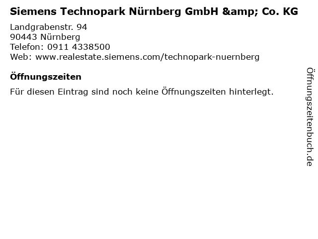 Siemens Technopark Nürnberg GmbH & Co. KG in Nürnberg: Adresse und Öffnungszeiten