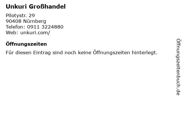 Unkuri Großhandel in Nürnberg: Adresse und Öffnungszeiten