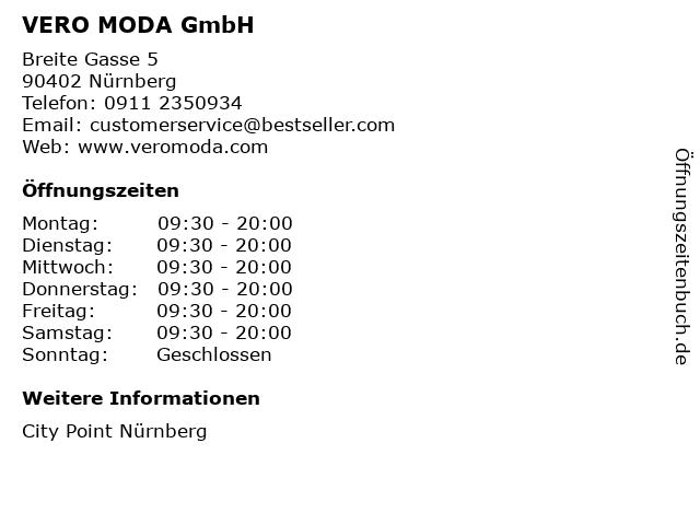 VERO MODA GmbH in Nürnberg: Adresse und Öffnungszeiten